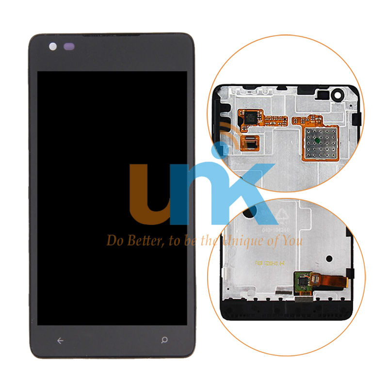 100% Tested LCD Screen For Nokia Microsoft Lumia 900 N900 LCD Display + Touch Screen Digitizer + Frame Assembly Replacement Part<br>