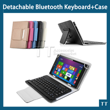 New Leather Universal 7~8 inch 3.0 bluetooth keyboard case,Wireless bluetooth keyboard case for 7~8 inch tablet pc + touch pen(China)