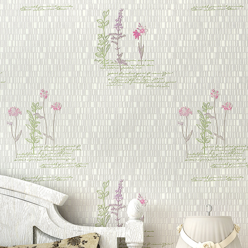 Rustic Flower Wallpaper 3D Embossed Wall Paper Non-Woven Wall Paper for Walls Pastorales Wallpapers,papel de parede para sala<br>