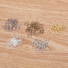 0.8*7mm 200pcs/lot Metal Iron Jewelry Findings Vintage Open Jump Rings Split Ring for DIY Fashion Necklace Bracelet Chains Craft