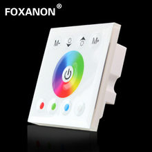Foxanon 86 Wall Mounted LED RGBW Touch Panel Full Color Controller DC12 - 24V 4A * 4CH For 5050 3528 3014 Lamp RGB Strip Light(China)