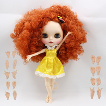 nude doll  brown wavy hair curly hair joint body joint doll factory blyth doll 330BL2231/2237