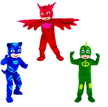 2017 New Mascot Costumes Parade Quality PJ Mask Birthdays Catboy Cosplay Costumes