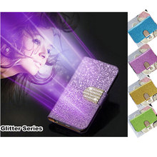 New Wallet Fashion Flip Phone Cases For Samsung Galaxy A5 A 5 A500 A500F A5000 A500F shockproof bling case cover Stand Function(China)