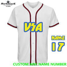 Personalized USA Baseball Jersey Custom Any Name Any Number 4 Colors Available Stripes on Sleeve and Front