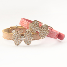 Armi store Rhinestone Bow Dog Collars Serpentine Princess Collars For Dogs  6041025 Pet Fashion Leads Accessories Pink, Gold