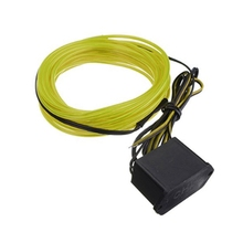 2M EL Cable DC 12V Flexible Neon Lights for Christmas Rave Parties Halloween Costumes Retail Shop Display (Fluorescence Green)