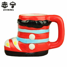 Creative ceramic coffee mugs cartoon shoes design shape water cups Christmas gift home decoration drinkware free shipping Y-165(China)