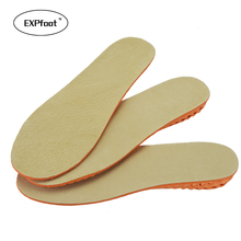 EXPfoot Leather Height Increase Insoles Memory Foam Invisible Heel Shoe Lift Increased 1.5-3.5CM for Men and Women 35-45 size(China)