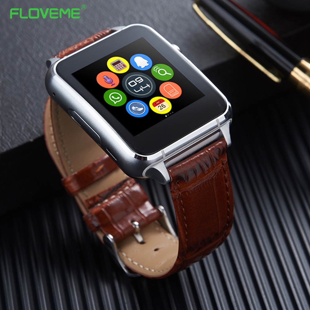 FLOVEME Bluetooth 3.0 Smart Watch Pedometer Anti Lost SIM Card Support E7 Smartwatch For Android Smartphone SIM Notificate Wrist<br>
