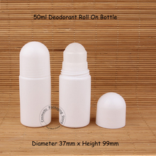 Promotion 22pcs/lot 50ml Empty Plastic Roll On Bottle Deodorant Roll-on Women Cosmetic Anti-perspirant Container 50cc Small Pot(China)