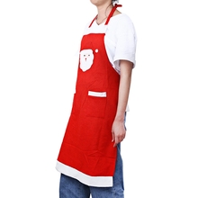 Hot 2017 New Christmas Kitchen Non-woven Fabrics Apron Dinner Party Decoration Unique Santa Claus Pattern for Christmas Party