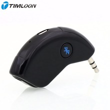 Super Mini Bluetooth Car Kit Bluetooth Receiver Hands-free AUX Output Adapter For Music and Mobile Phone