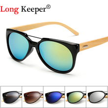 Original Wooden Bamboo Sunglasses Men Women Mirrored UV400 Sun Glasses Real Wood Shades Gold Blue Outdoor Goggles Sunglases Male(China)