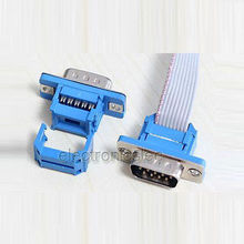 10pcs 9 Pin D-SUB DB9 Male IDC Flat cable Connector