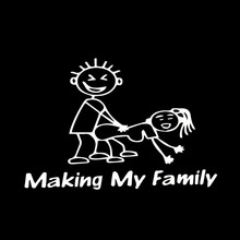 Making My Family Stick People Decal Funny Car Vinyl Sticker Euro Jdm Window Sick(China)