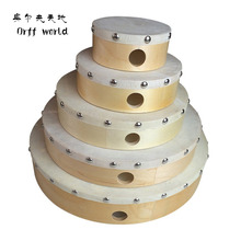"Orff World 8"" Musical Instruments Sheepskin Tambourine Drum Wooden Rivet Educational Party Holiday Kids Baby Toys brinquedos(China)"