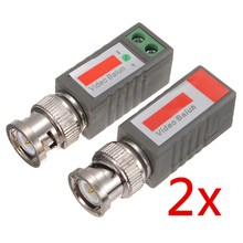 2pcs Camera CCTV Coax CAT5 To BNC Male Video Passive Balun UTP Transceiver Connector Passive Transceivers 2000ft Distance(China)