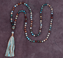 High End 6MM Mixed Natural Stones Long Tassel Beads Necklace Luxury Handmade Beaded Bohemia Women Necklace Dropshipping