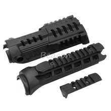 Outdoor Airsoft Rifle Gun Accessories Command Hunting CAA M4S1 Handguard with Extra Rail System for M4/M16 Black(China)