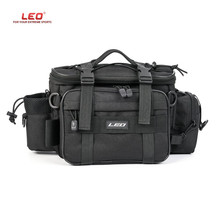LEO Multifunctional Fishing Bags Outdoor Sports Shoulder Waist Pack Lures reel Bags Storage fishing reel cover for Pesca(China)