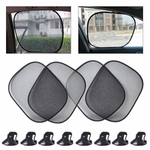 DWCX New Car Black Foldable Window Foils Side Window Sun Shade Screen Visor Cover For Mercedes-Benz GLK Audi Q5 Toyota RAV4 VW(China)
