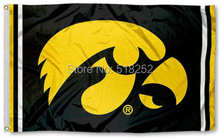 Iowa Hawkeyes Jersey Stripes Flag 3x5 FT NCAA 150X90CM Banner 100D Polyester Custom flag grommets 603,free shipping