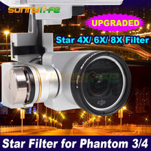 Sunnylife Star Filter Night Filter Kit 4point 6point 8Point for DJI Phantom 3/4 Camera