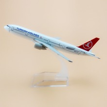 16cm Alloy Metal Air TURKISH Airlines Boeing 777 B777 Airways Plane Model Airplane Model w Stand Aircraft Craft Gift