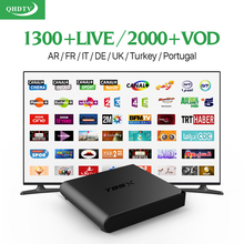 Smart TV Box Android 6.0 Set-top Box 4K Quad Core S905X Media Player with HD Arabic Iptv Subscription 1 year Channels Europe stb