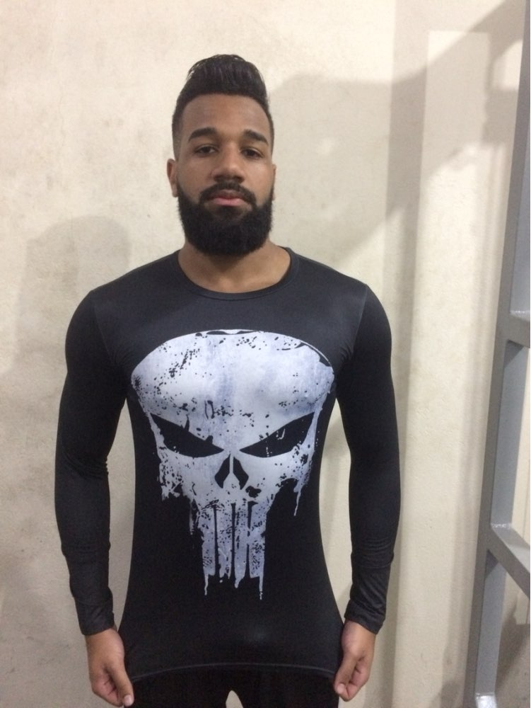 Punisher 3D Printed T-shirts Men Compression Shirts Long Sleeve Cosplay Costume crossfit fitness Clothing Tops Male Black Friday 25