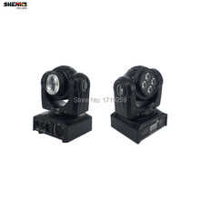 LED Beam Wash Double Sides 4 x10W+1 x10W RGBW ,15/21 Channel DMX 512 Rotating Moving Head Lighting for Indoor Disco Party