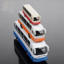 1/100 scale Model material scene model construction sand table DIY color bus transportation(China)