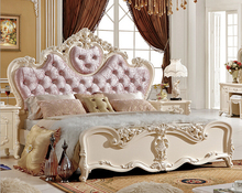 classical pink wood double bed designs