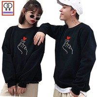 120e1487ab Matching Couple Hoodies His and Her Love Sweatshirts Preppy Style Boyfriend  Girlfriend White Black Printed Couple