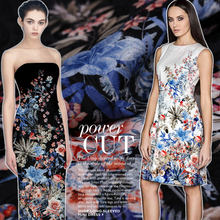 Flowers Jacquard Fabric Brocade France Luxury Clothing Cheongsam Skirt Fashion Jacquard Fabric Sewing Fabrics Textile