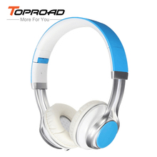 TOPROAD Wired Headphone 3.5mm Stereo Headset Foldable with Microphone Earphone big auriculares For iPhone Phone Computer(China)