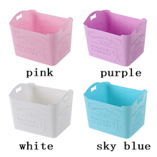 8 colors Plastic Storage Box Jewelry Makeup Organizer Candy Color Office Sundries Cosmetic Drawer Container Storage Organizer
