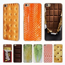 Food Biscuits chocolates meat fish salmon style clear phone shell Case for Xiaomi Redmi Note 3 Note4 3 3s 4 4A Xiaomi Mi 4 5 5s