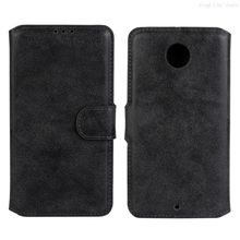 Vintage Luxury Flip Wallet PU Leather Case Stand Function With Card Holder Phone Bag Cover For Motorola Google Nexus 6 Shell(China)