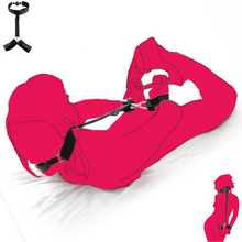 Buy Nylon Sex Handcuffs silicone Mouth Gag ball Wrist Restraint SM harness bondage adult game toy Hand cuffs slave couple