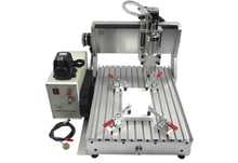 CNC 3040 Z-VFD 1.5KW water cooled spindle engraving machine wood pcb carving drilling router(China)