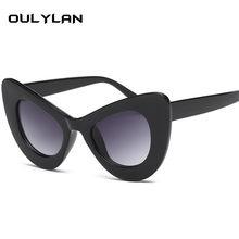 Oulylan Influência Do Olho de Gato Óculos De Sol Das Mulheres Óculos Óculos  Oversized Óculos de ffeb0c76a6