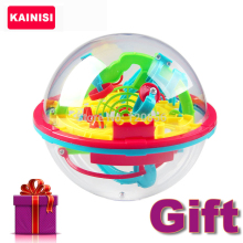 100 Steps 3D puzzle Ball Magic Intellect Ball with gift educational toys Puzzle Balance Logic Ability Game For Children adults(China)