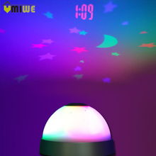 Colorful Night Light Alarm Clocks LED Digital Projection Sky Moon Star Starry Night Projector Alarm Clock For Children Kids Baby(China)
