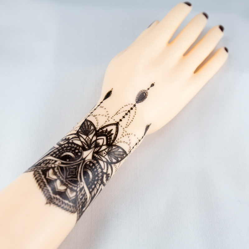Wise Owl Temporary Tattoo Body Art Flash Tattoo Stickers black henna  tattoos Waterproof Fake Tattoo on hand shoulder lower arm