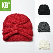 SALE KBB Xmas Fall Winter Kawaii Comfy muticolor Ridged Pattern Design Yarn Knit Delicate Winter Hat Beanie for Women Ladies(China)