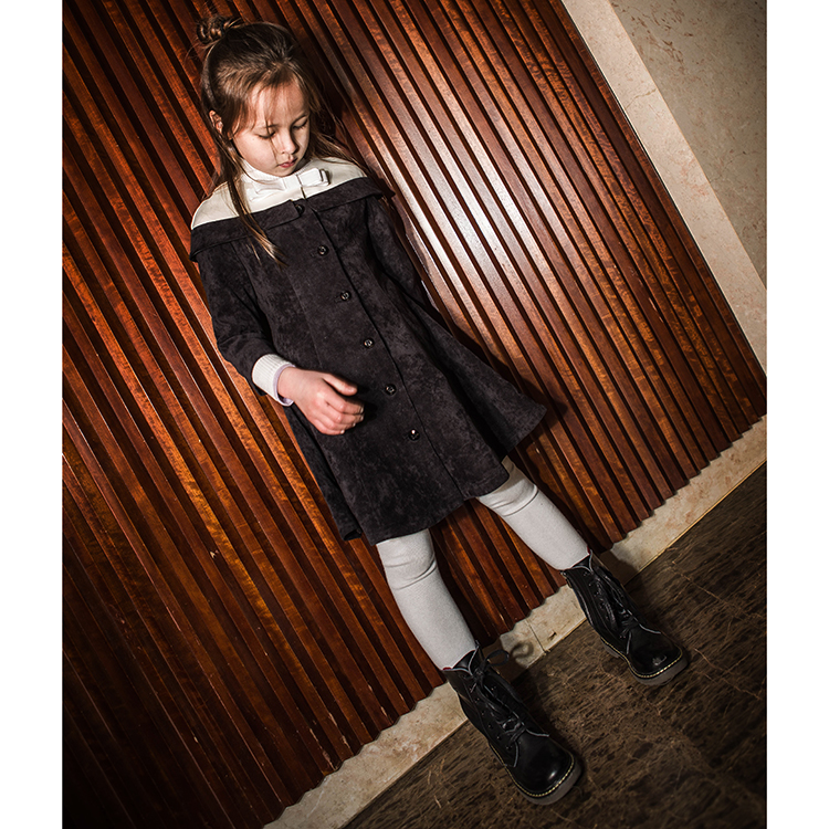 Lavensey New Autumn Kids Girls Warm Coat Lovely Casual Dress Coat Silk Baby Clothes Black Child Outer Wear Kids Coats<br>