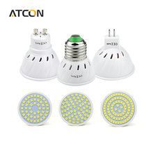 1Pcs LED Spotlight Bulb E27 GU10 MR16 GU5.3 2835SMD 220V 230V 240V 48 60 80 LEDs Cup lamp light For Indoor Downlight lighting(China)