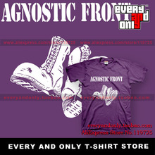 Agnostic Front Band Boots 100% Cotton Casual Loose Fashion Printing T-shirt Tee T